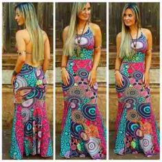 Vestido Longo Sereia Com Bojo Decote Costas Pronta Entrega - R$ 69,90 no MercadoLivre