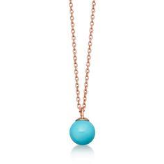 Turquoise Peggy Pendant #turquoise #rosegold #pendant #necklace
