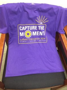 Orientation 2014 capture the moment on pinterest new for Juilliard college t shirts