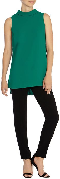 Buy Coast Queens Tunic Top, Jade from our Women's Shirts & Tops range at John Lewis & Partners. Coast Stores, Green Queen, Green Fashion, Green Tops, Blue Denim, Basic Tank Top, Athletic Tank Tops, Tunic Tops, Stylish