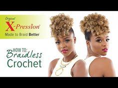 How to Curl and Braidless Crochet Braid   X-Pression Cuevana Twist - YouTube #crochet Easy style! #crochetbraids
