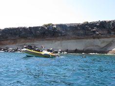 Über 150 Menschen fahren regelmäßig in das Gebiet, um zu tauchen und zu schnorcheln. Ruhe, denkste! Foto: Doris Spain, Boat, Pictures, Snorkeling, Diving, Names, People, Dinghy, Sevilla Spain