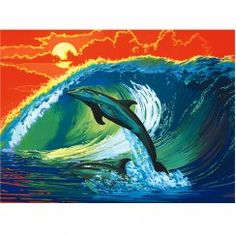 Diy oil painting by digital dolphin jumping picture adult coloring paint acrylic painting calligraphy by digital wall decoration List Of Paintings, Canvas Paintings, Jumping Pictures, Paint By Number Kits, Simple Art, Easy Art, Digital Wall, Paint Party, Sweet Life