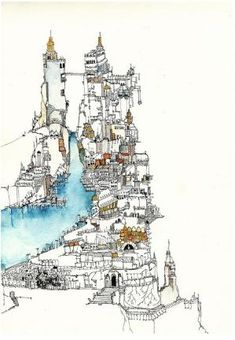 Watercolour and Ink Drawing | Art Journals, Moleskines & Travel Sketchbooks by Alina Nisnoversh
