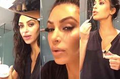 Kim Kardashian Did Her Own Makeup For A Video And It's Actually Stunning