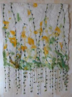 "Felted Wall Hanging ""Dandelions""."