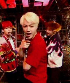 jin bts  fire gif blonde live