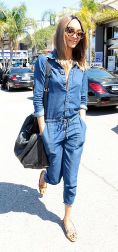 A denim jumpsuit is the ultimate off-duty piece that is an easy, weekend look as seen on Jourdan Dunn on Riches For Rags. Jumpsuit Outfit, Denim Jumpsuit, Cute Outfits, Summer Outfits, Denim Outfit, Inspired Outfits, Everyday Outfits, Denim Fashion, Daily Fashion