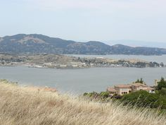 San Quentin Prison from Ring Mountain, at the beginning of the Tiburon Peninsula, Marin County, California
