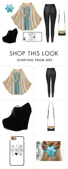 Christmas_Winter_Outfit by marshmallowkuini on Polyvore featuring Calypso St. Barth, Topshop, Forever Link and Casetify