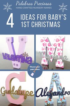 Add one of these cute monograms to your Christmas list to celebrate your little one's 1st Christmas.  Ask me today about a design just for you. #babys1stchristmas #babyboy #babygirl #baygirl #firstchristmas