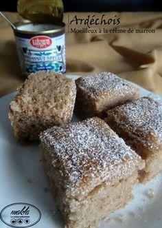 Soft with chestnut cream - Ardéchois - Envie sucrée - Meat Recipes Meat Recipes, Cake Recipes, Dessert Recipes, Fondant, Chestnut Cream, Cake Factory, Christmas Breakfast, Food Cakes, Coco