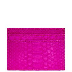 ALLEGRA LONDON Pink Hand-Crafted Python Leather Cardholder