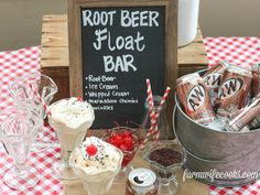 Root beer floats are a summertime favorite! This Root Beer Float Bar is a great idea for a birthday party or family cookout.
