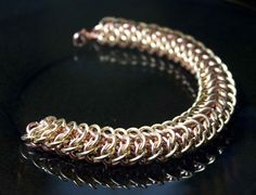 Mens Dragonback Bracelet in Copper and Brass