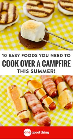 Campfire food is a summertime tradition! Here are 10 delicious and easy things to try cooking around your campfires this summer. #outdoorcooking #cookingoutdoors #campfirecooking #camping #summer #summerecipes