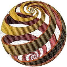 Sphere Spirals - M.C. Escher