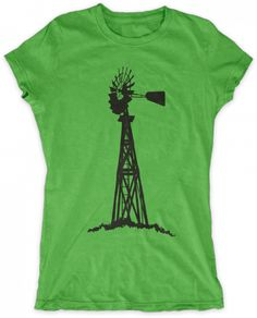 Evoke Apparel - Windmill Silohette Womens Graphic T-shirt, $27.00 (http://www.evokeapparelcompany.com/windmill-silohette-womens-graphic-t-shirt/)  For those that are passionate about wind power and doing good for the environment, this windmill womens graphic t-shirt makes a great statement.