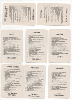 Szabály: Tartozékok: Tábla: Kártyák: ... Projects To Try, Activities, Personalized Items