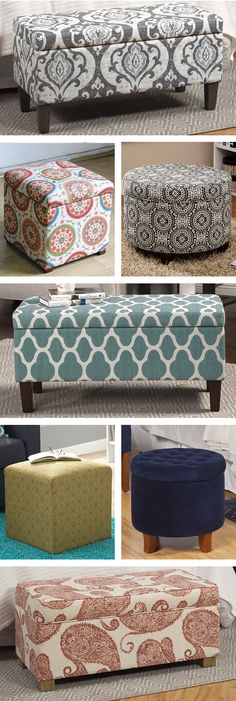 Multifunctional and versatile, pouf ottomans are everywhere these days. It's no wonder why, since they can work in almost any room in your home! Visit Wayfair and sign up today to get access to exclusive deals everyday up to 70% off. Free shipping on all orders over $49. Pouf Ottoman, Ottoman Ideas, Fabric Storage Ottoman, Storage Ottoman Bench, Long Footstool, Gray Ottoman, Sofa Ideas, Multifunctional, Bedroom Ottoman