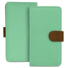 Fosmon CADDY Series Leather Wallet Case for Samsung Galaxy S5, S4, Active / HTC One (M8) 2014 / LG G2 (AT&T, T-Mobile,Verizon) - Sky Green / Brown Fosmon Technology,http://www.amazon.com/dp/B00CWK6OJW/ref=cm_sw_r_pi_dp_IuoDtb0ZYFFDQNHD