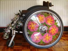 Shoshiplatypus: Wheelchair Spoke Guards–Mixed Media Project - DIY ~This is fantastic! I'm now on the search for clear guards to paint.