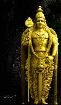 The amazing statue of Lord Murugan - view of very big statue of Lord Murugan on Batu caves Kuala Lumpur Malaysiam