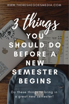 3 Things You Should Do Before the Semester Begins from There She Goes. Tips for college students on getting ready for a new semester of school. College Freshman Tips, College Semester, Financial Aid For College, College Fun, Education College, College Life, College Hacks, School Life, High School