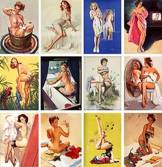 Wall Calendar 2017 [12 pages A4] Pin Up Sexy Girl Elvgren Vintage Pinup M537