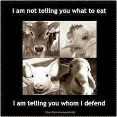 No te digo qué comer, sino a quién defender.