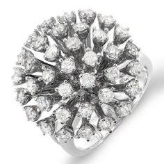 2.00 Carat (ctw) 14k White Gold Round Diamond Ladies Cocktail Ring