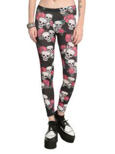 Rose Skull Leggings