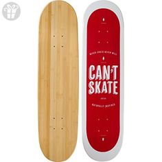 """Bamboo Skateboards Can't Skate Graphic Skateboard Deck, 8.25"""" x 32"""" - Fun stuff and gift ideas (*Amazon Partner-Link)"""