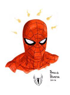 #Spiderman #Fan #Art. (Spider-Man) By: Paolo Rivera. (THE * 5 * STÅR * ÅWARD * OF: * AW YEAH, IT'S MAJOR ÅWESOMENESS!!!™) ÅÅÅ+