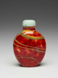 Chinese Snuff bottle (Glass):