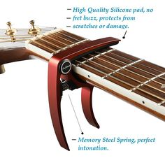 Guitar Capo Acoustic and Electric Guitars – xGuitarx – Ultra Lightweight – No Scratches, No Fret Buzz, Easy to Move – Also for Ukulele, Banjo and Mandolin – Single-Handed Professional Trigger Action, Metal Blue Banjo, Ukulele, Electric Guitar Lessons, Electric Guitars, Studio Gear, Guitar Accessories, Guitar Tips, Classical Guitar, Aluminum Metal