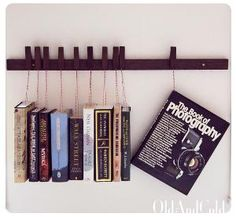 awesome way to hang books !