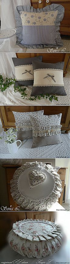 The sweetest pillows. Cute Pillows, Diy Pillows, Decorative Pillows, Throw Pillows, Cushion Covers, Pillow Covers, Home Crafts, Diy And Crafts, Sewing Crafts