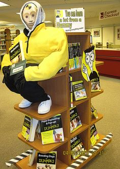 """For Dummies"" Display by Fairfax Library Foundation, via Flickr"