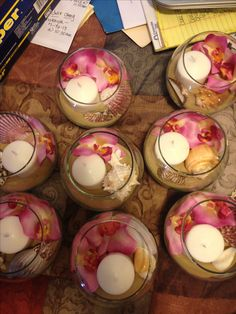 Luau centerpieces; very easy and inexpensive;