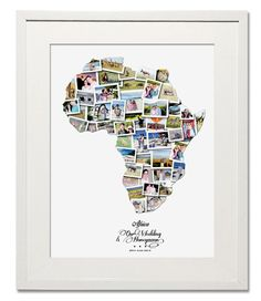 Africa Wedding, Honeymoon & Anniversary Collage - Treasure on the Wall - 1