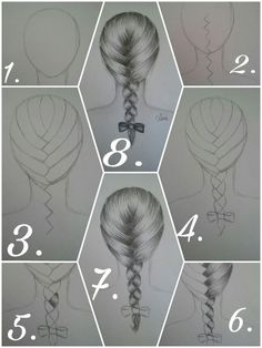 to draw a French braid correctly? pencil Leni How to draw a French braid correctly? pencil Leni How to draw a French braid correctly? Girl Drawing Sketches, Art Drawings Sketches Simple, Pencil Art Drawings, Easy Drawings, Drawing With Pencil, How To Draw Braids, How To Draw Hair, Drawing Techniques, Drawing Tips