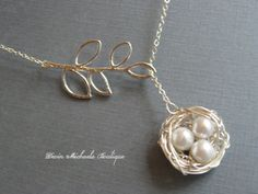 Mothers Day Necklace, Silver Bird Nest Necklace, Silver Lariat Branch Necklace, Mothers Gift, Baby Birds Necklace, Mothers Necklace by DevinMichaels on Etsy https://www.etsy.com/ca/listing/104856079/mothers-day-necklace-silver-bird-nest