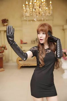 Rubber Gloves, Leather Gloves, Fashion Models, Asian, Beauty, Black, Dresses, Vestidos, Black People