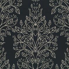 Buy Graham and Brown Sophia Wallpaper Charcoal / Black / Silver Pink Damask Wallpaper, Brown Wallpaper, Feature Wallpaper, Modern Wallpaper, Pattern Wallpaper, Textures Patterns, Print Patterns, Pink Room, Krystal