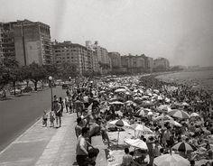 Praia do Flamengo em 1958 - antes do aterro