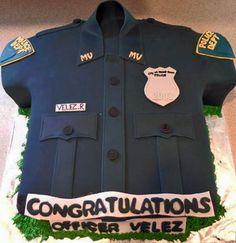 Police Shirt Cake — Graduation