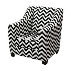 Drew Kids Black and White Chair - Accent for Baby Nursery