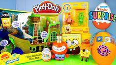 Play Doh Spongebob Squarepants Toys Flying Dutchman Ghost Ship Toy Revie...