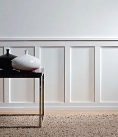 8 Safe Clever Hacks: Wainscoting Around Windows Craftsman Style faux wainscoting baseboards.White Wainscoting Newel Posts black wainscoting board and batten.Dark Wainscoting Entry Ways. Wainscoting Height, Black Wainscoting, Wainscoting Nursery, Wainscoting Kitchen, Painted Wainscoting, Dining Room Wainscoting, Wainscoting Ideas, Wainscoting Panels, Paneling Painted